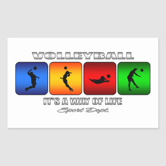 Cool Volleyball It Is A Way Of Life Rectangular Sticker