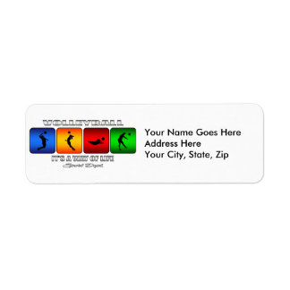 Cool Volleyball It Is A Way Of Life Return Address Label