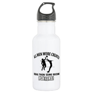 cool volleyball player design 532 ml water bottle