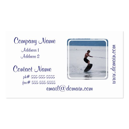 Cool Wakeboarder Business Cards