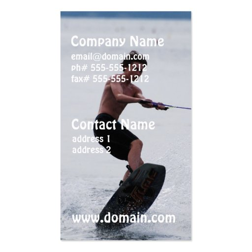 Cool Wakeboarder Business Card Template