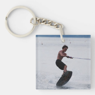 Cool Wakeboarder Single-Sided Square Acrylic Key Ring