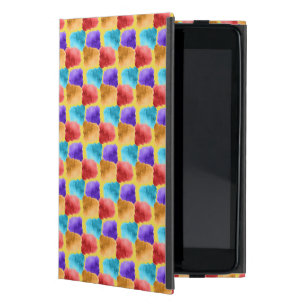 Cool Water colours patchwork texture Cover For iPad Mini