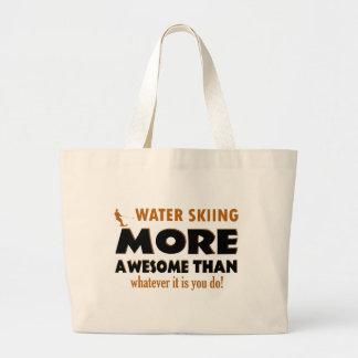 Cool Water Skiing designs Tote Bag