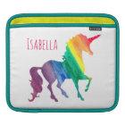 Cool Watercolor Rainbow Unicorn Kids Beautiful iPad Sleeve
