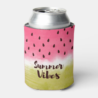 Cool watercolor watermelon can cooler