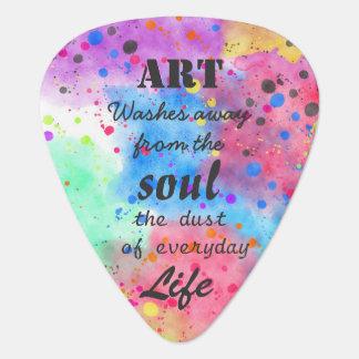 Cool watercolour famous quote plectrum