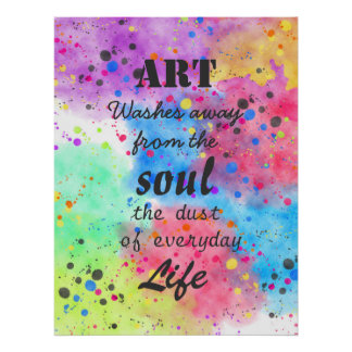Cool watercolour famous quote poster