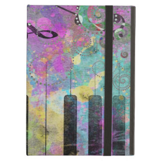 Cool watercolours splatters colourful piano iPad air cover