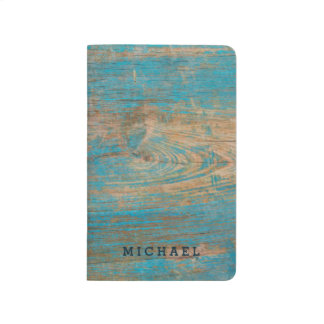Cool Weathered Blue Peeling Paint Wood Texture Journals