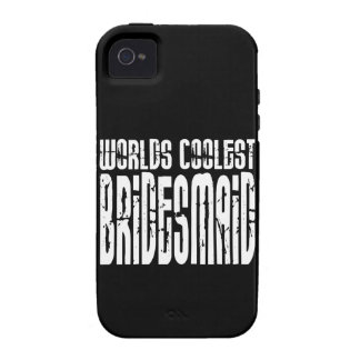 Cool Wedding Party Favor Worlds Coolest Bridesmaid Case-Mate iPhone 4 Cases