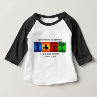 Cool Weight Lifting It Is A Way Of Life Baby T-Shirt