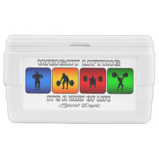 Cool Weight Lifting It Is A Way Of Life Ice Chest