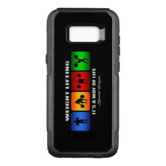 Cool Weight Lifting It Is A Way Of Life OtterBox Commuter Samsung Galaxy S8+ Case
