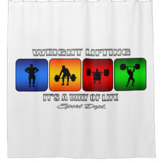Cool Weight Lifting It Is A Way Of Life Shower Curtain