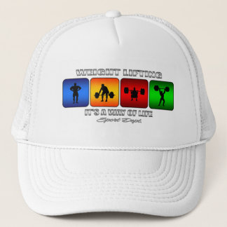 Cool Weight Lifting It Is A Way Of Life Trucker Hat