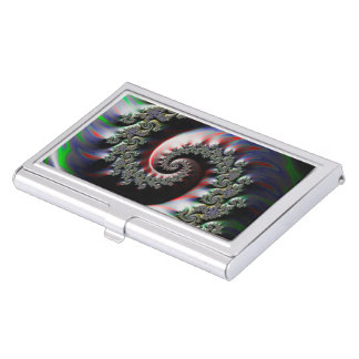 Cool Wet Paint Fractal Swirl of RGB Primary Colors Business Card Holder