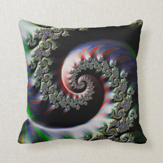Cool Wet Paint Fractal Swirl of RGB Primary Colors Cushion
