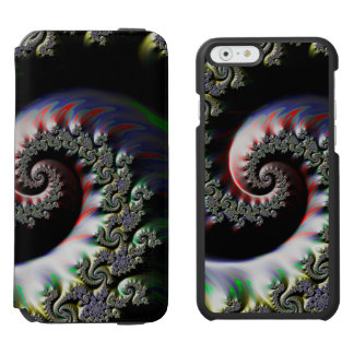 Cool Wet Paint Fractal Swirl of RGB Primary Colors Incipio Watson™ iPhone 6 Wallet Case