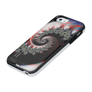 Cool Wet Paint Fractal Swirl of RGB Primary Colors iPhone SE/5/5s Battery Case