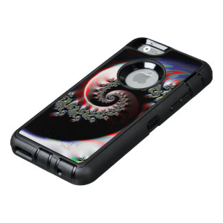 Cool Wet Paint Fractal Swirl of RGB Primary Colors OtterBox Defender iPhone Case