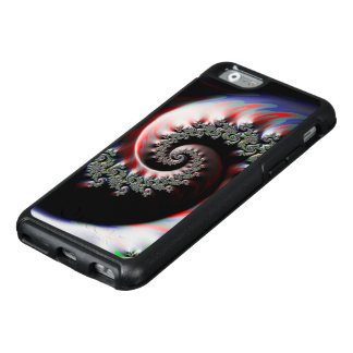 Cool Wet Paint Fractal Swirl of RGB Primary Colors OtterBox iPhone 6/6s Case