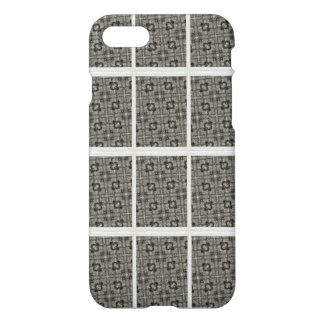 cool white and grey abstract pattern iPhone 7 case