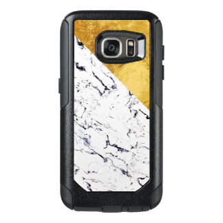 Cool White Marble with Gold Foil OtterBox Samsung Galaxy S7 Case