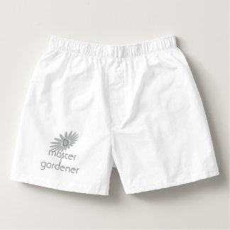 Cool White Monogrammed Master Gardener Boxers