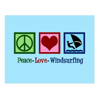 Cool Windsurfing Postcard