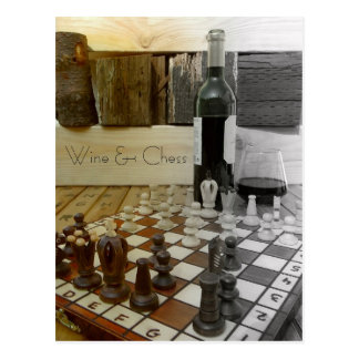 Cool Wine & Chess Postcard! Postcard