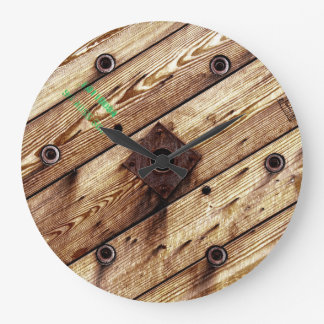 Cool Wooden Wire Spool Large Clock