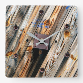Cool Wooden Wire Spool Square Wall Clock