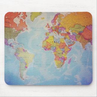 Cool World Map Mousepads