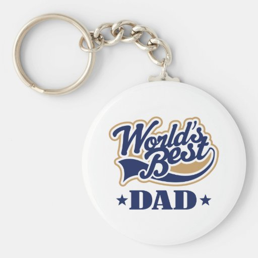 Cool World's Best Dad Gift Basic Round Button Key Ring