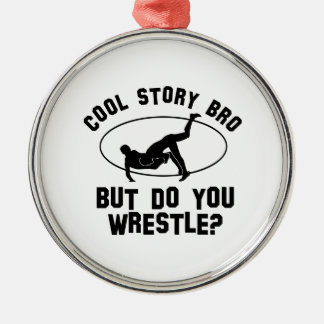 cool wrestling designs metal ornament