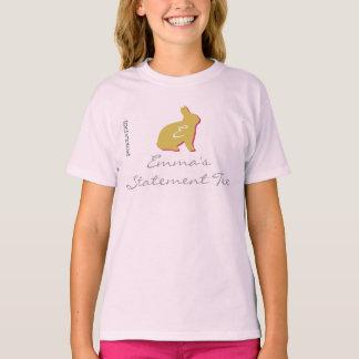 Cool Yellow Bunny Emma's Statement Kids T-shirt