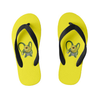 Cool yellow flip flop thongs