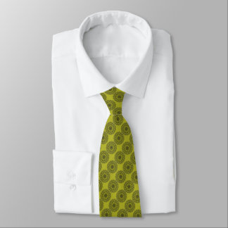 Cool Yellow Graphic Circle  Art Tie