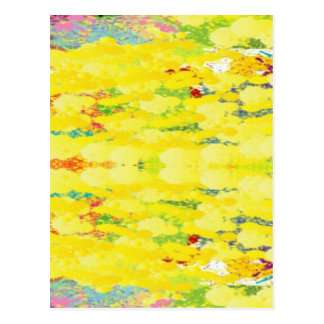 Cool Yellow Modern Pop Abstract Postcard