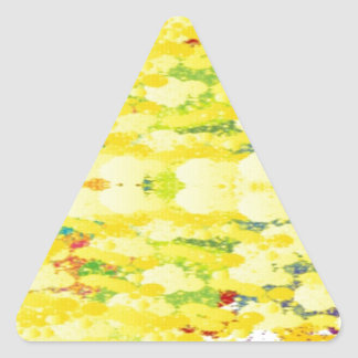 Cool Yellow Modern Pop Abstract Triangle Sticker