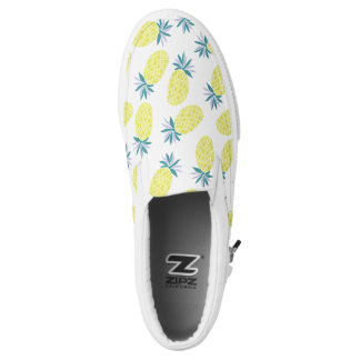 Cool Yellow Pineapples Pattern Slip On Shoes