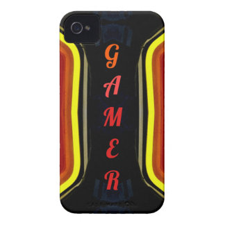 Cool Yellow Red 'Gamer' Artistic Design iPhone 4 Cover