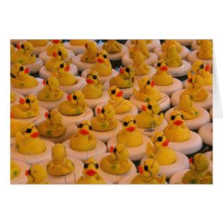 Cool Yellow Rubber Ducks Card