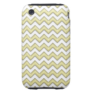 Cool yellow Zig Zag Pattern iPhone 3 Tough Cases