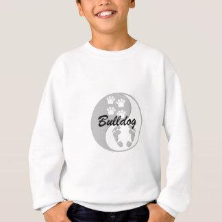 cool yin yang bulldog sweatshirt