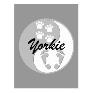 Cool yin yang yorkie postcard