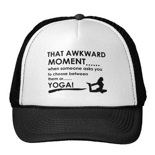 Cool yoga  designs hat