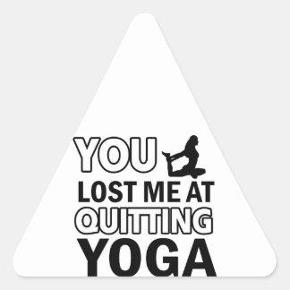 Cool yoga designs triangle sticker