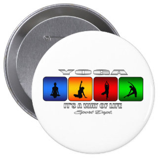 Cool Yoga It Is A Way Of Life 10 Cm Round Badge